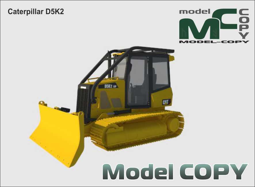 Caterpillar D5K2 - 3D Model