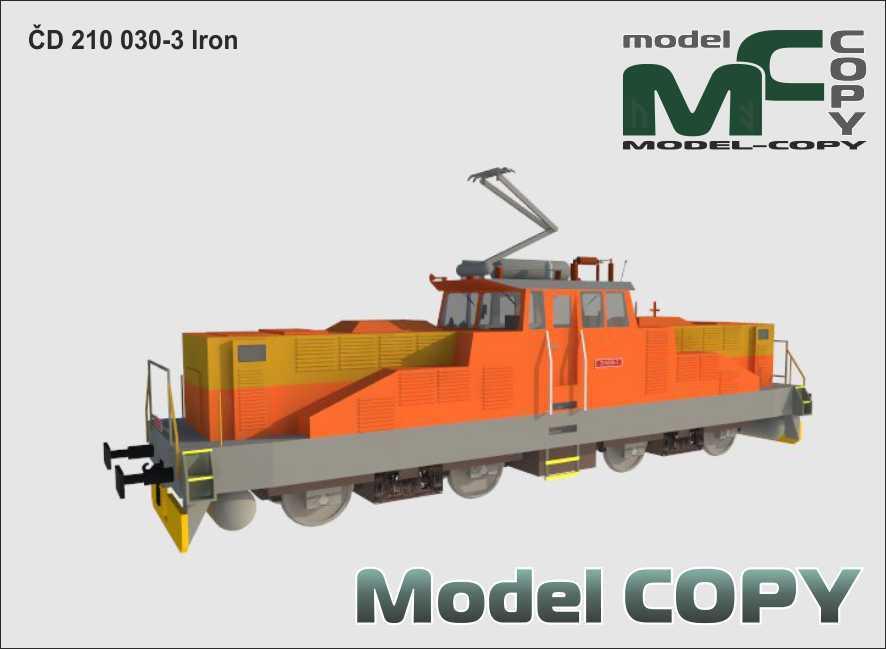 ČD 210 030-3 Iron - 3D Model