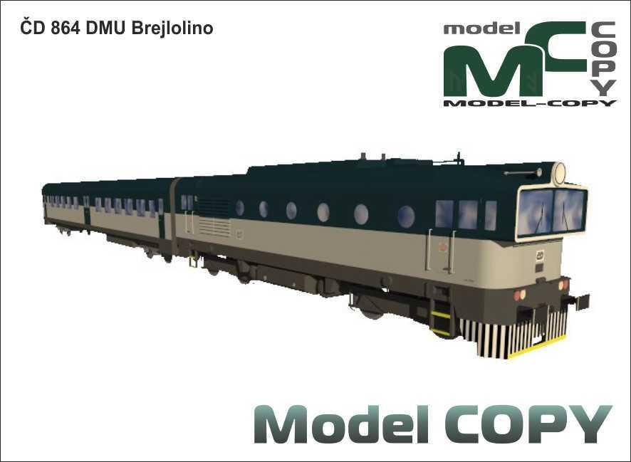 ČD 864 DMU Brejlolino - 3D Model