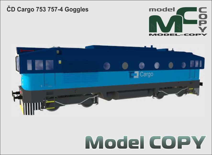 ČD Cargo 753 757-4 Goggles - 3D Model