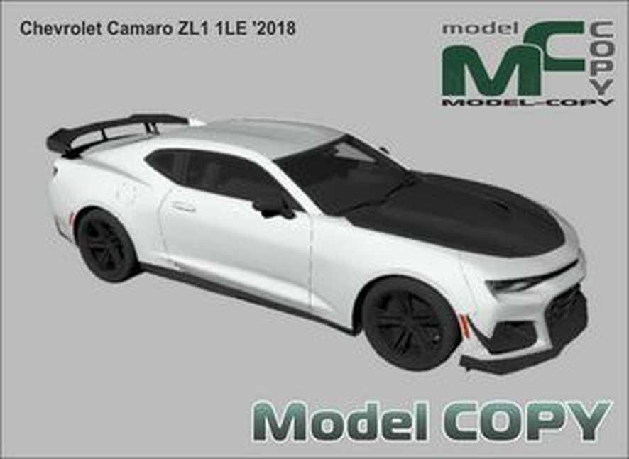 Chevrolet Camaro ZL1 1LE '2018 - 3Dモデル