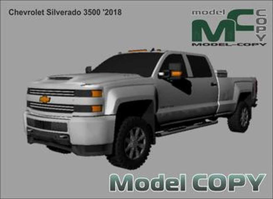 Chevrolet Silverado 3500 '2018 - 3Dモデル
