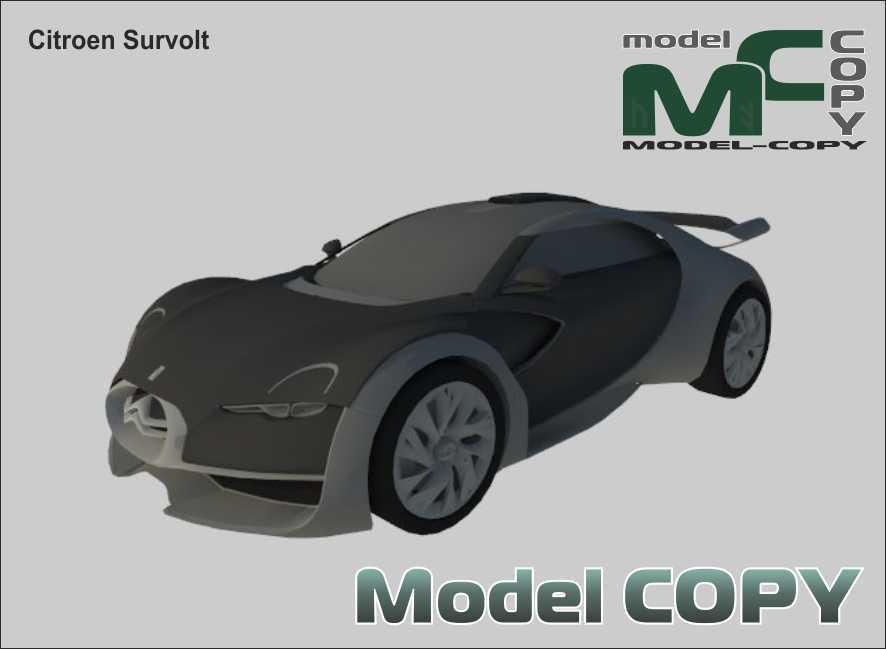 Citroen Survolt - 3D Model