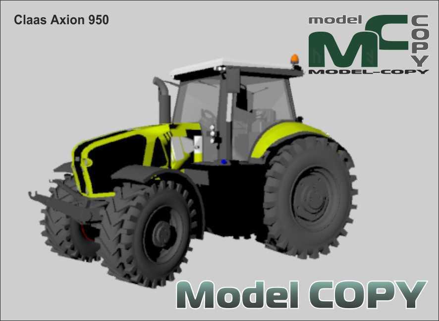Claas Axion 950 - 3Dモデル