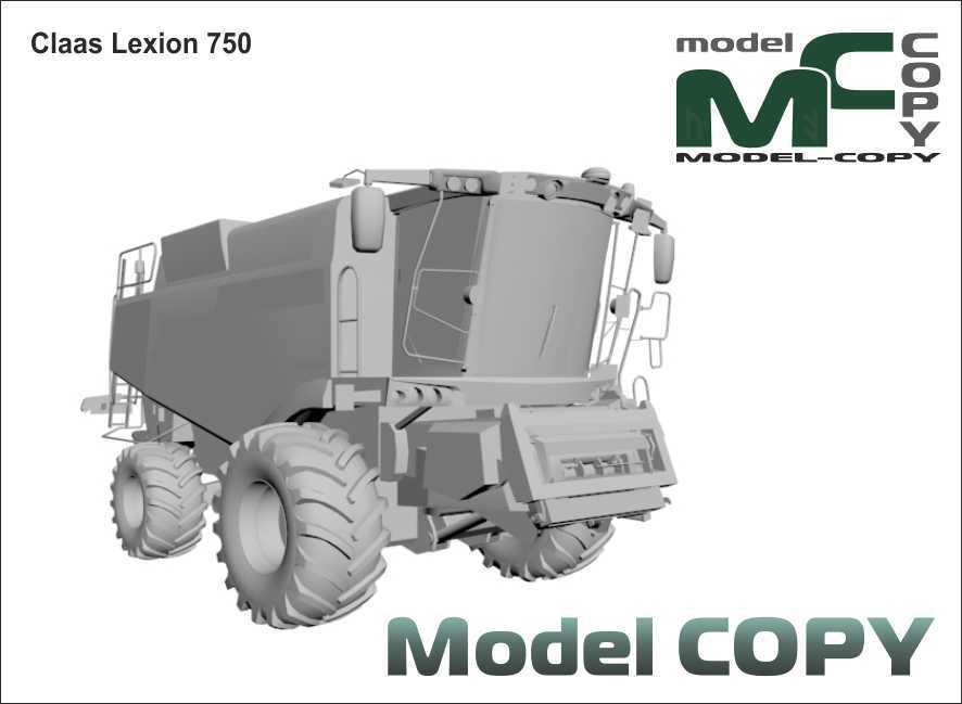Claas Lexion 750 - 3D Model