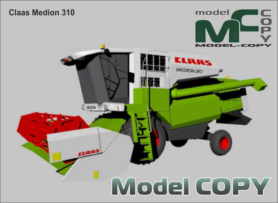 Claas Medion 310 - 3Dモデル