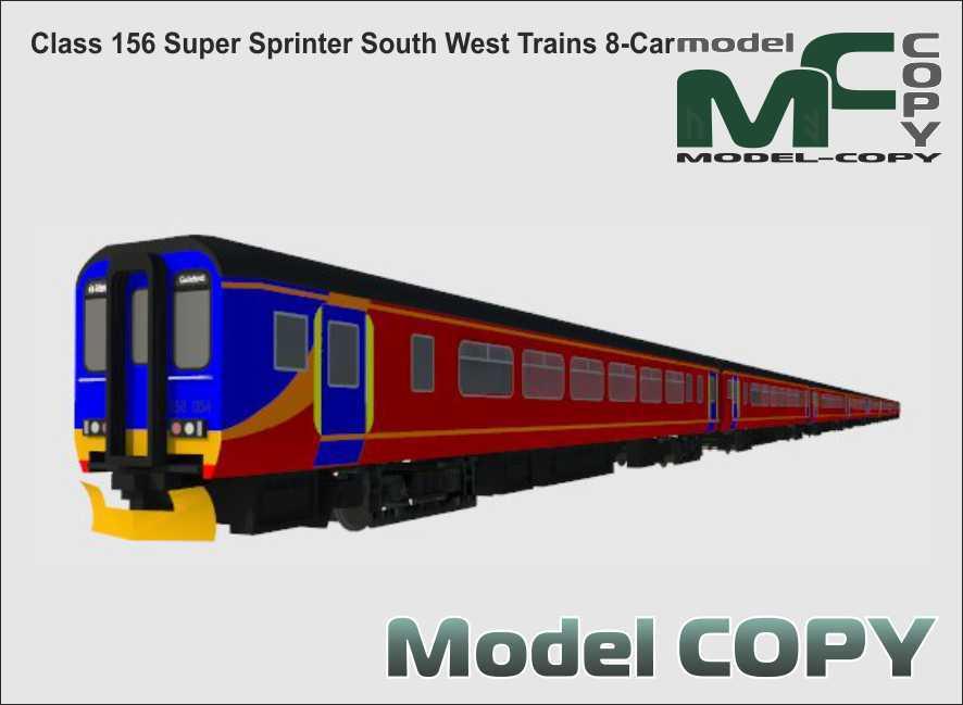 Class 156 Super Sprinter South West Trains 8-Car - 3D Model