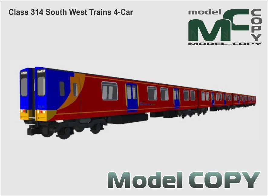 Class 314 South West Trains 4-Car - 3D Model