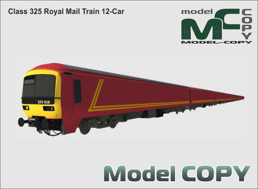 Class 325 Royal Mail Train 12-Car - 3D Model