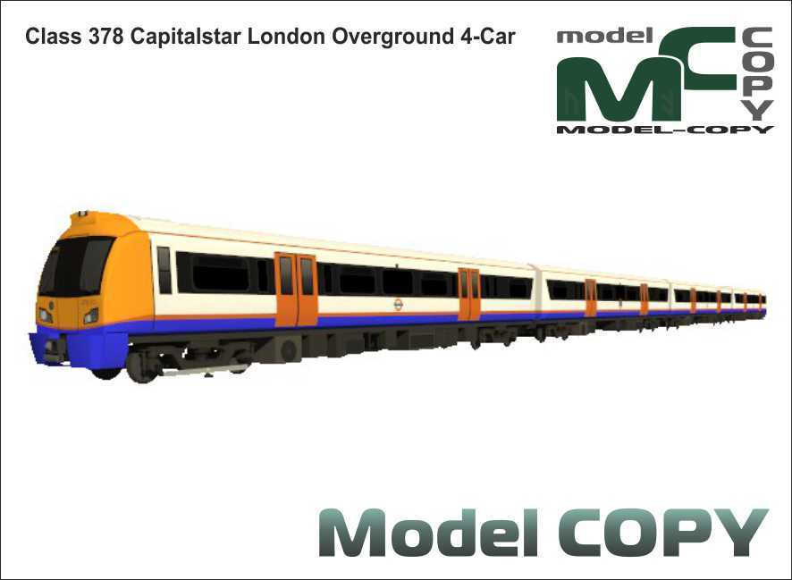 Class 378 Capitalstar London Overground 4-Car - 3D Model