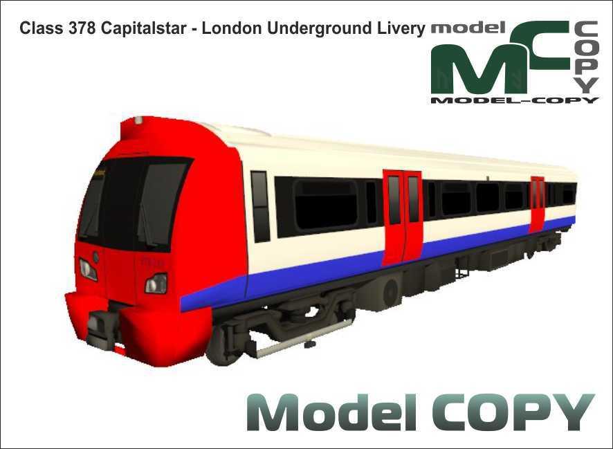 Class 378 Capitalstar - London Underground Livery - 3D Model