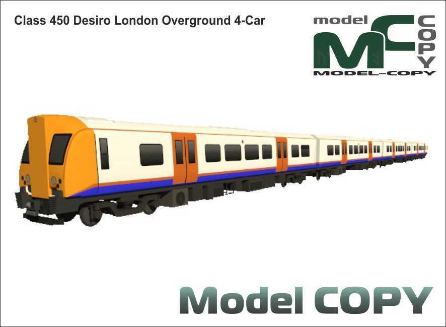 Class 450 Desiro London Overground 4-Car - 3D Model