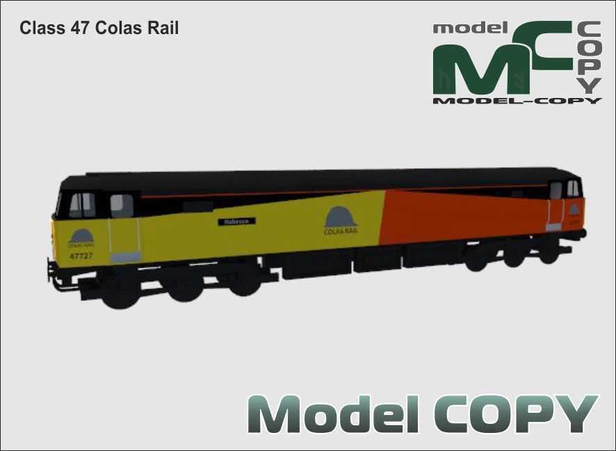 Class 47 Colas Rail - 3D Model