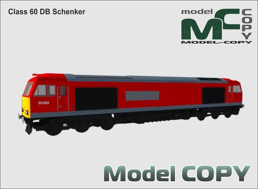 Class 60 DB Schenker - 3D Model