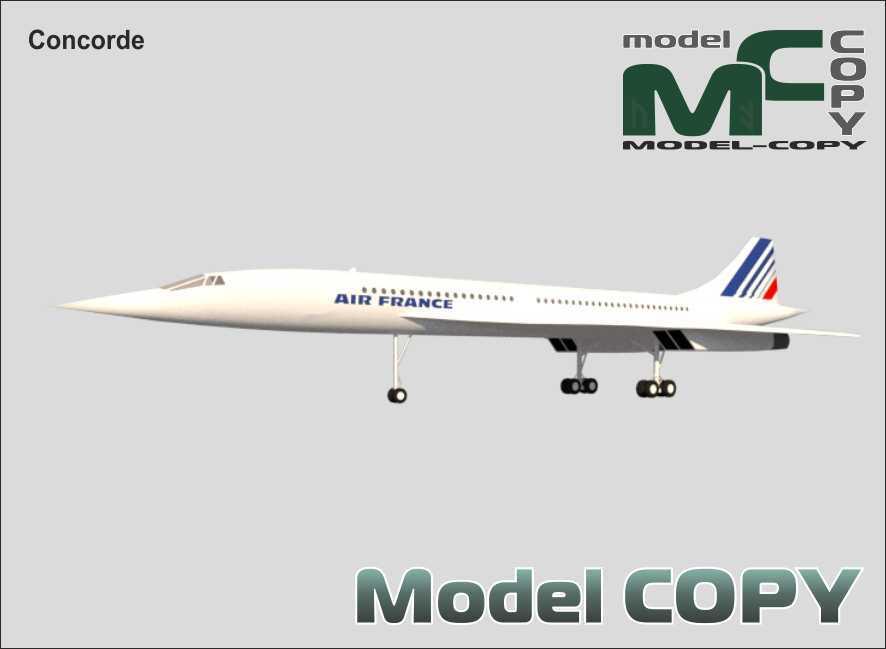 Concorde - 3D Model