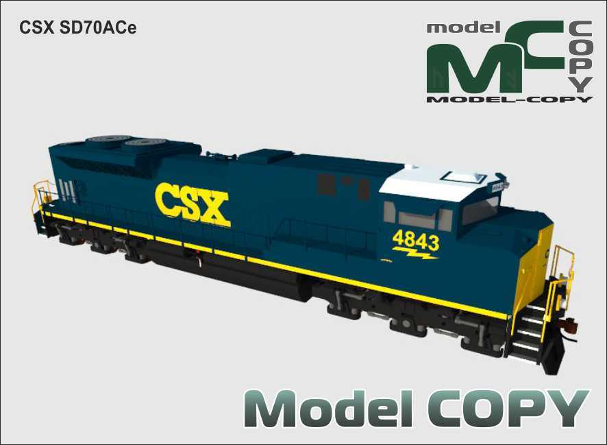 CSX SD70ACe - 3D Model