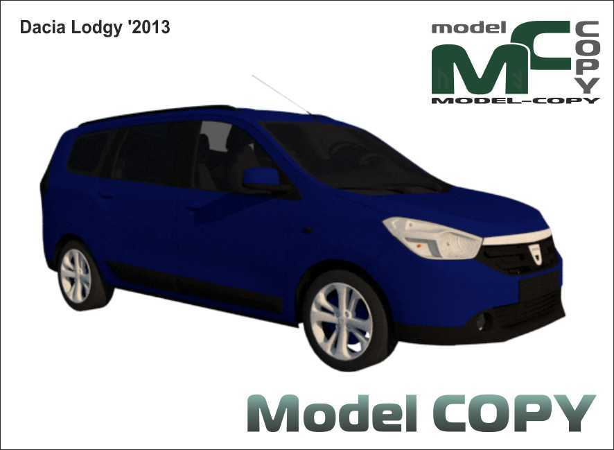 Dacia Lodgy '2013 - 3D Model