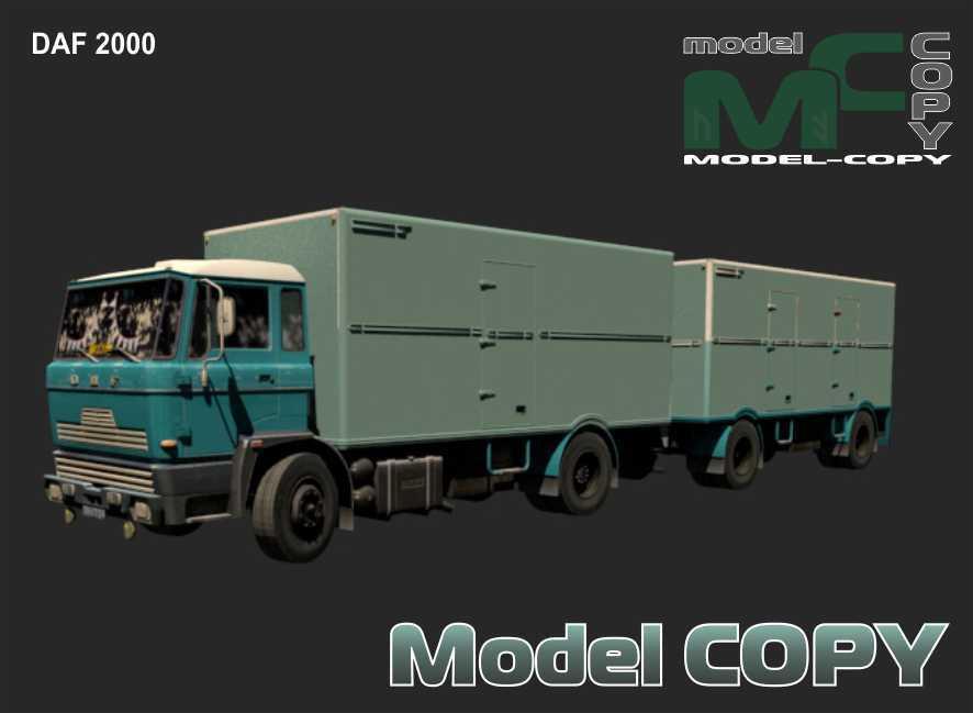 DAF 2000 - 3D Model