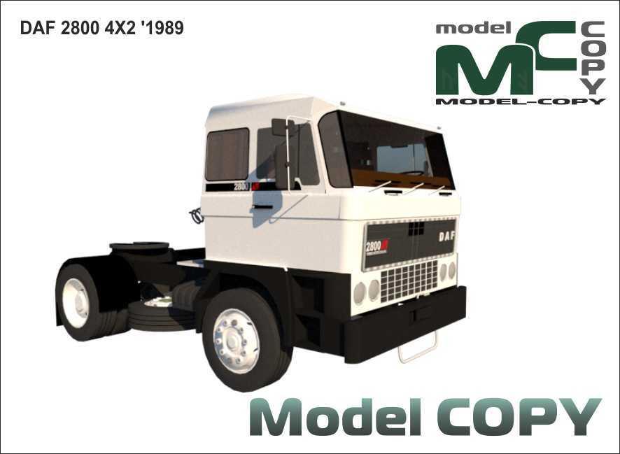 DAF 2800 4X2 '1989 - 3D Model