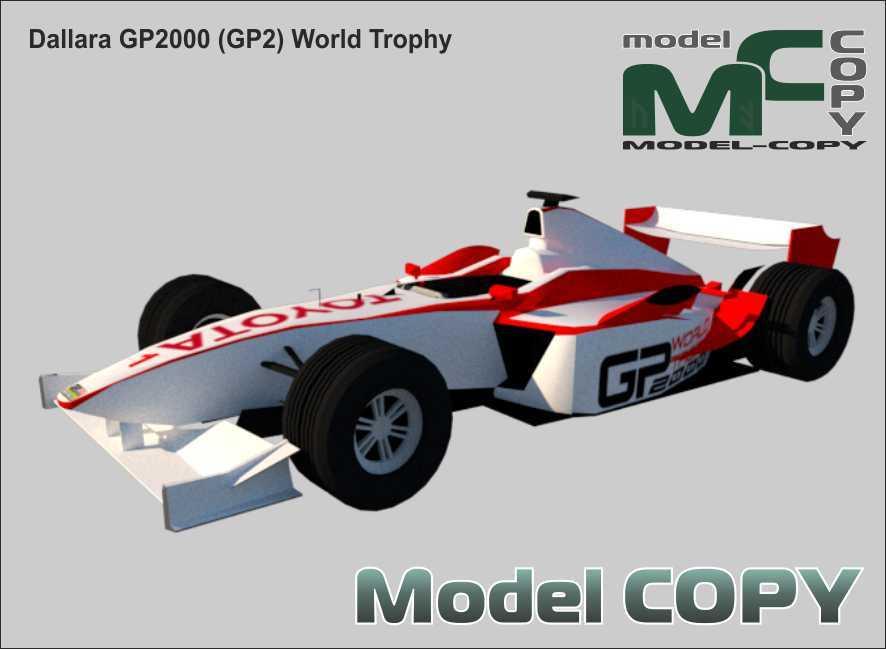 Dallara GP2000 (GP2) World Trophy - 3D Model