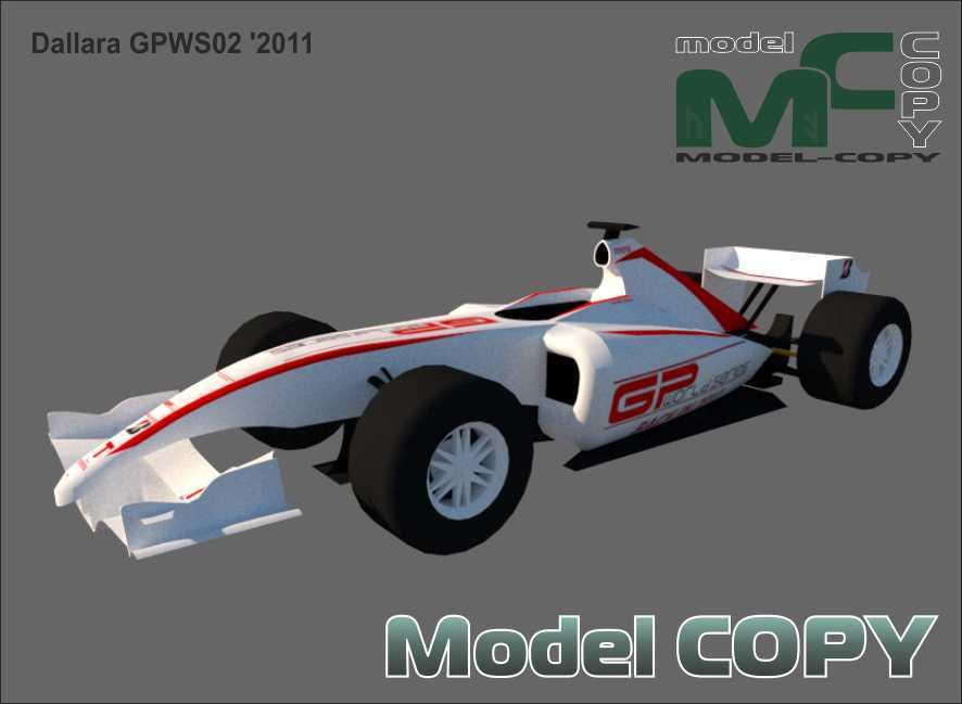 Dallara GPWS02 '2011 - 3D Model