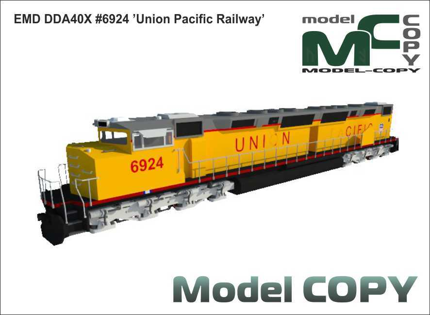 EMD DDA40X #6924 'Union Pacific Railway' - 3D Model