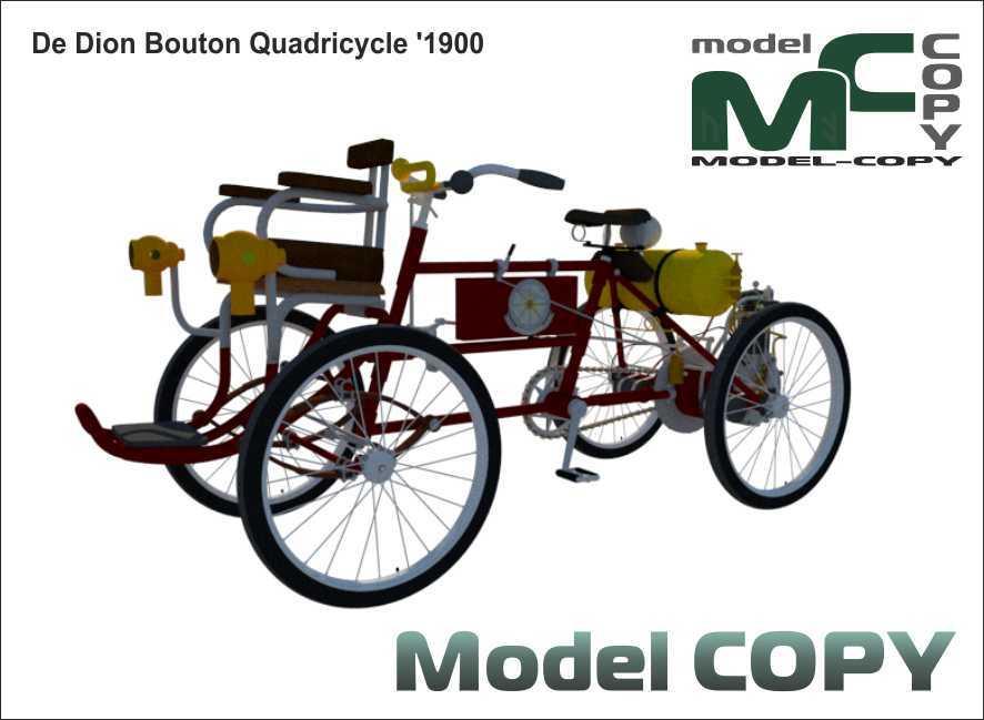 De Dion Bouton Quadricycle '1900 - 3D Model