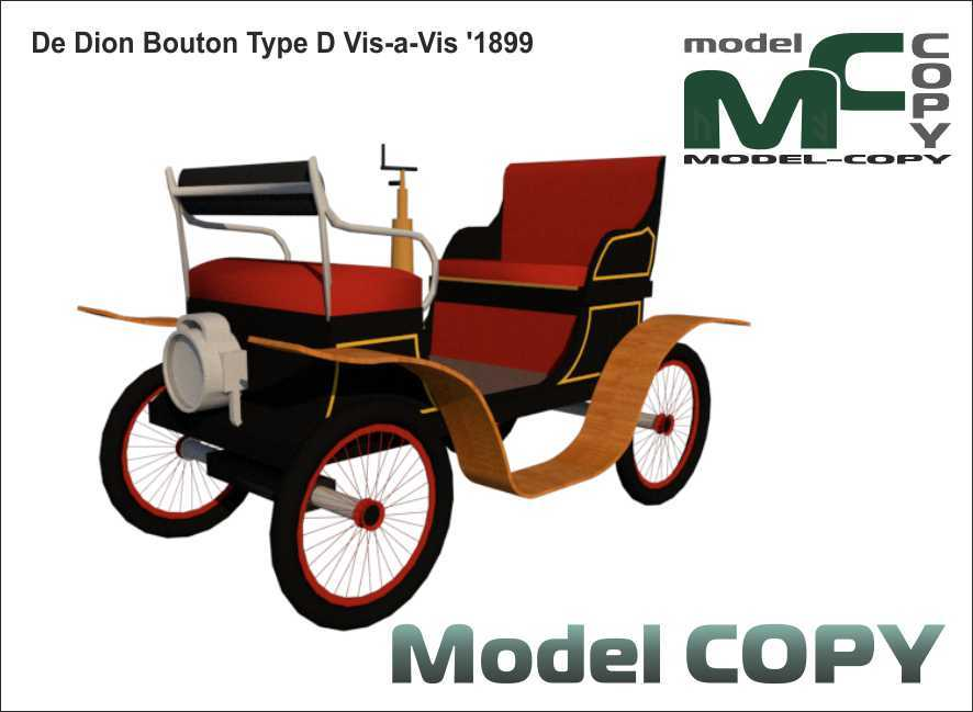 De Dion Bouton Type D Vis-a-Vis '1899 - 3D Model