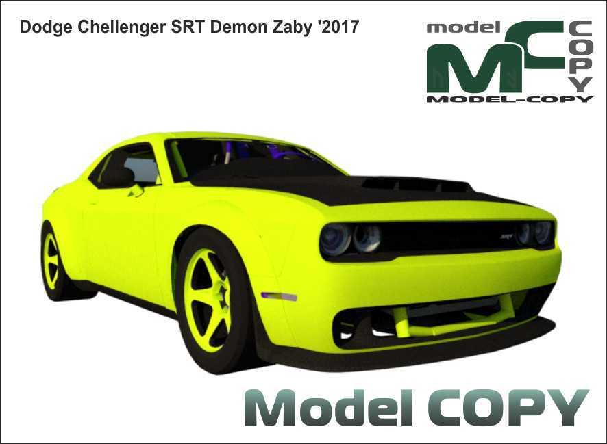 Dodge Chellenger SRT Demon Zaby '2017 - 3D Model