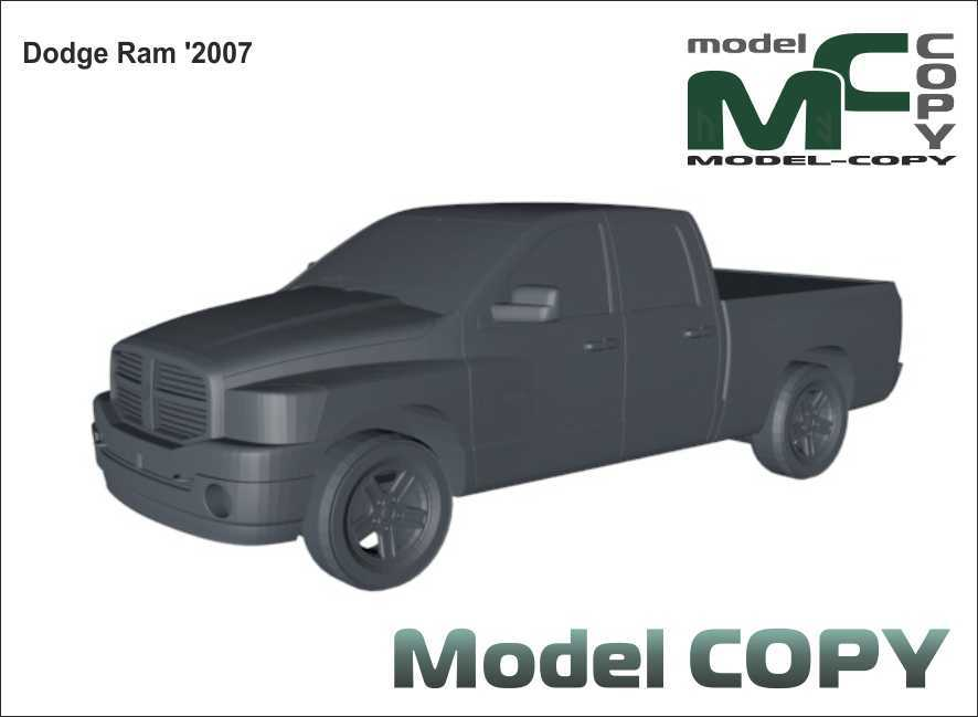 Dodge Ram '2007 - 3D Model