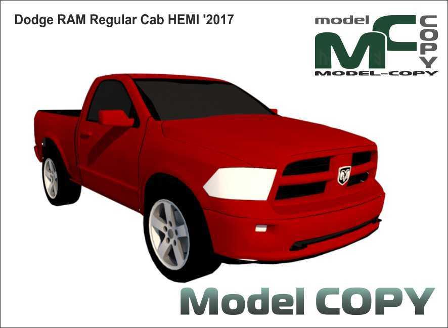 Dodge RAM Regular Cab HEMI '2017 - 3D Model