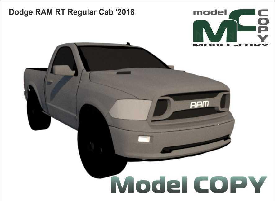 Dodge RAM RT Regular Cab '2018 - 3D Model