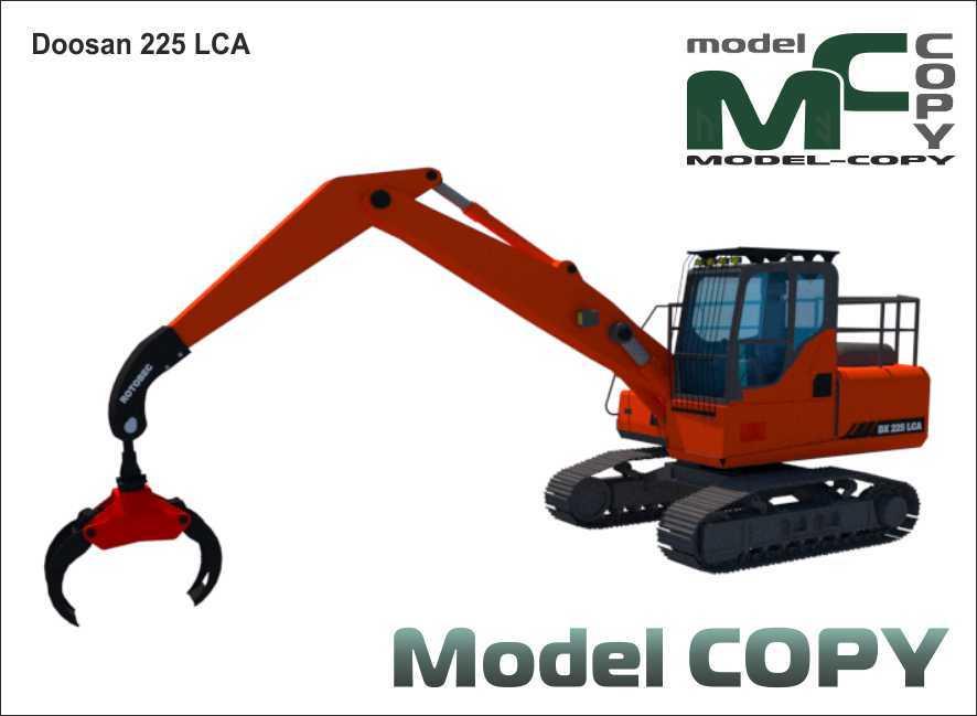 Doosan 225 LCA - 3D-s modell