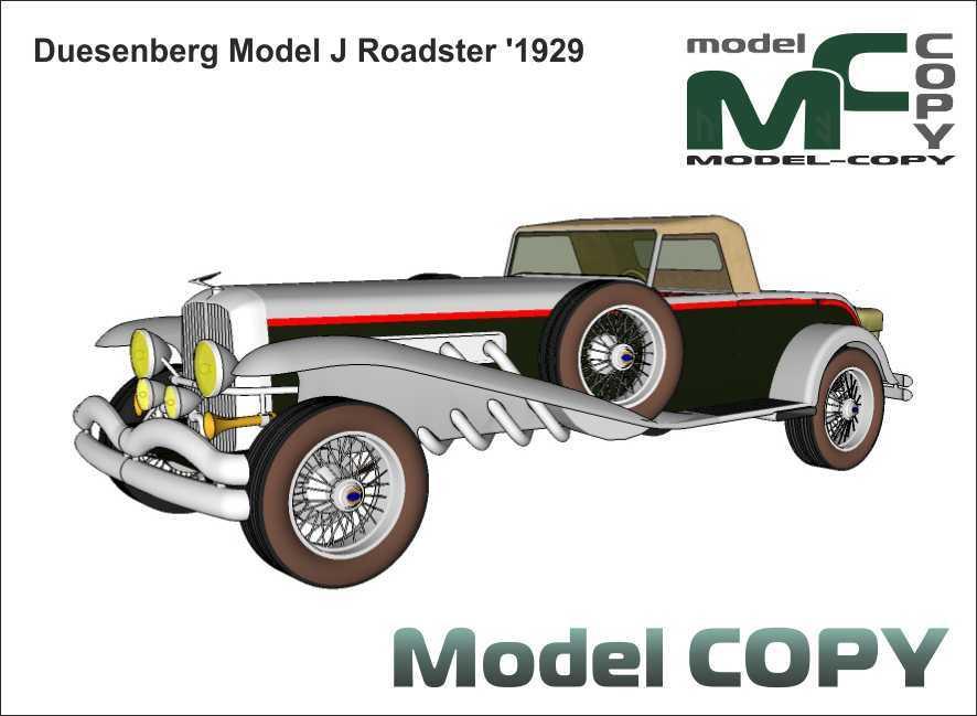 Duesenberg Model J Roadster '1929 - 3D Model