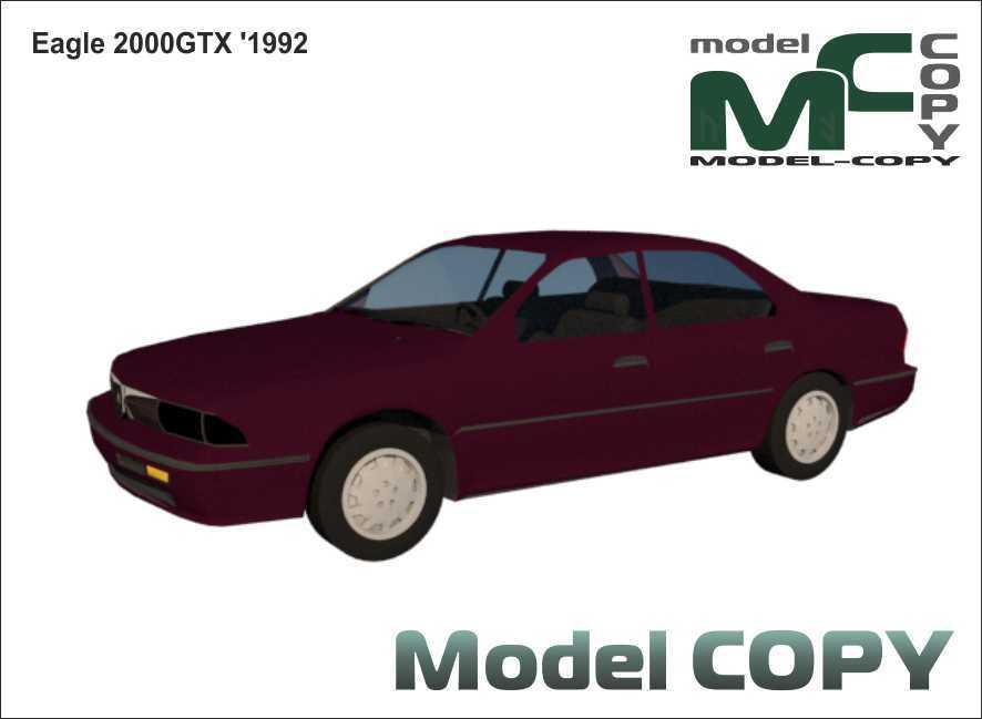 Eagle 2000GTX '1992 - 3D Model