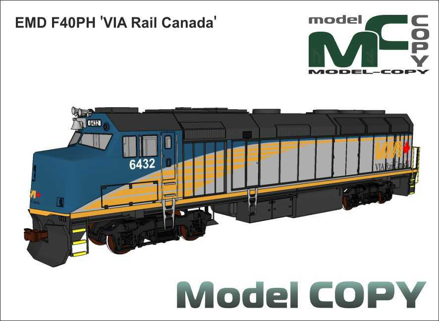 EMD F40PH 'VIA Rail Canada' - 3D Model