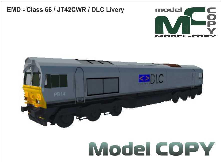EMD - Class 66 / JT42CWR / DLC Livery - 3D Model