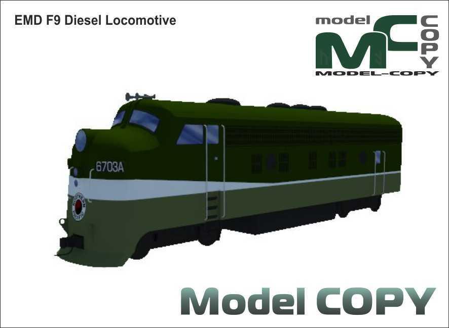 EMD F9 Diesel Locomotive - 3D Model