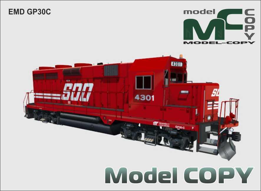 EMD GP30C - 3D Model