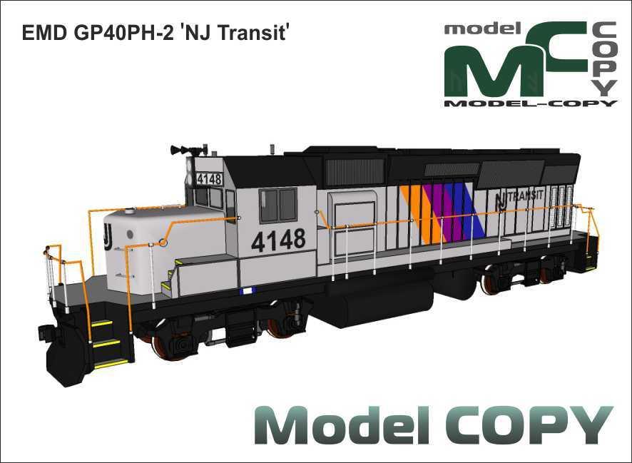 EMD GP40PH-2 'NJ Transit' - 3D Model
