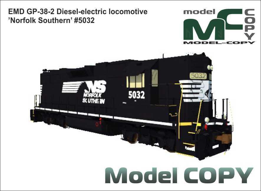 EMD GP-38-2 Diesel-electric locomotive 'Norfolk Southern' #5032 - 3D Model