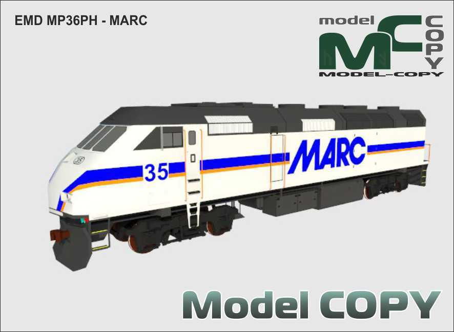 EMD MP36PH - MARC - 3D Model