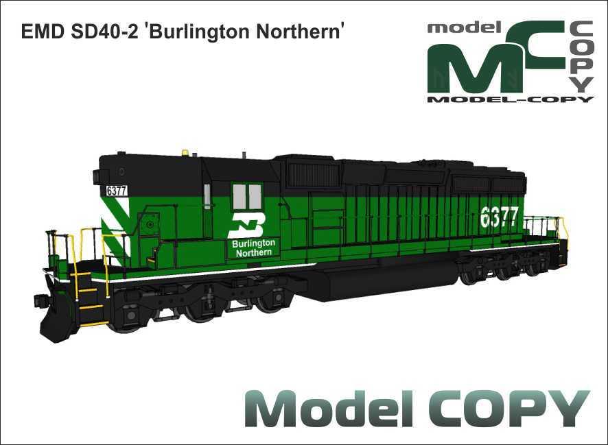 EMD SD40-2 'Burlington Northern' - 3D Model