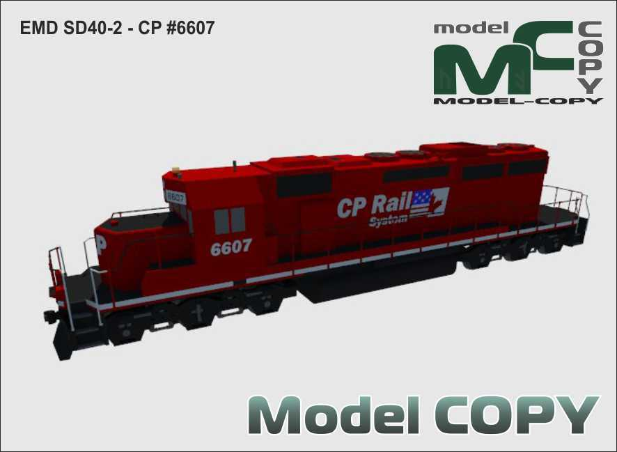 EMD SD40-2 - CP #6607 - 3D Model