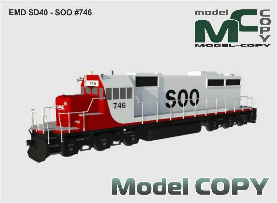 EMD SD40 - SOO #746 - 3D Model