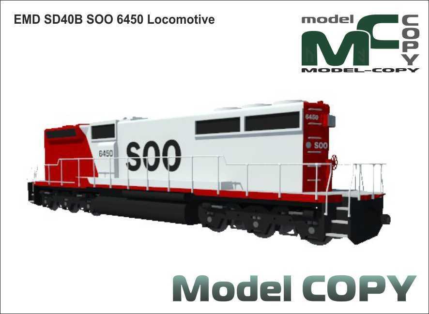 EMD SD40B SOO 6450 Locomotive - 3D Model