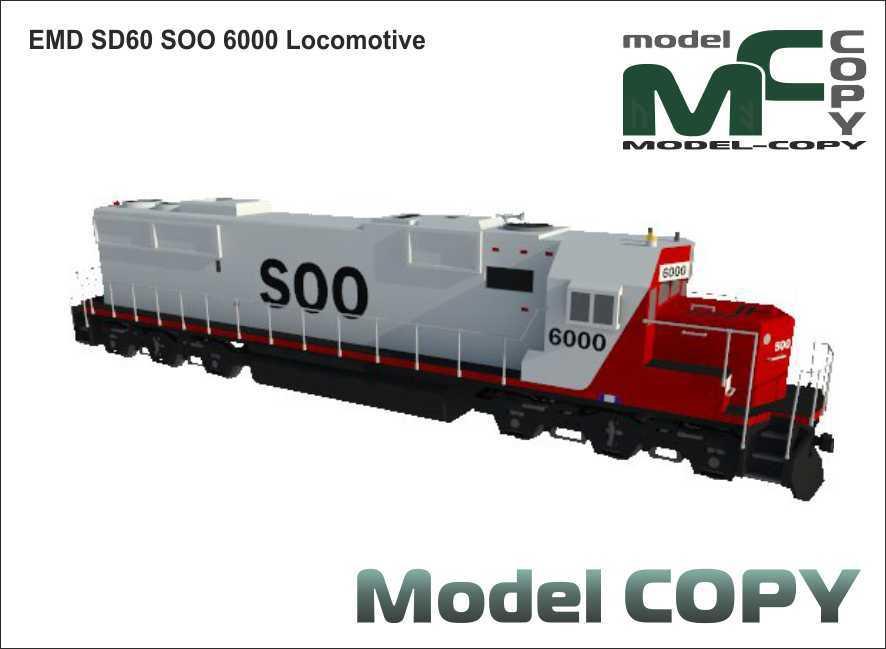 EMD SD60 SOO 6000 Locomotive - 3D Model