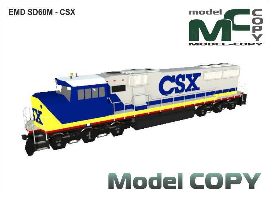 EMD SD60M - CSX - 3D Model