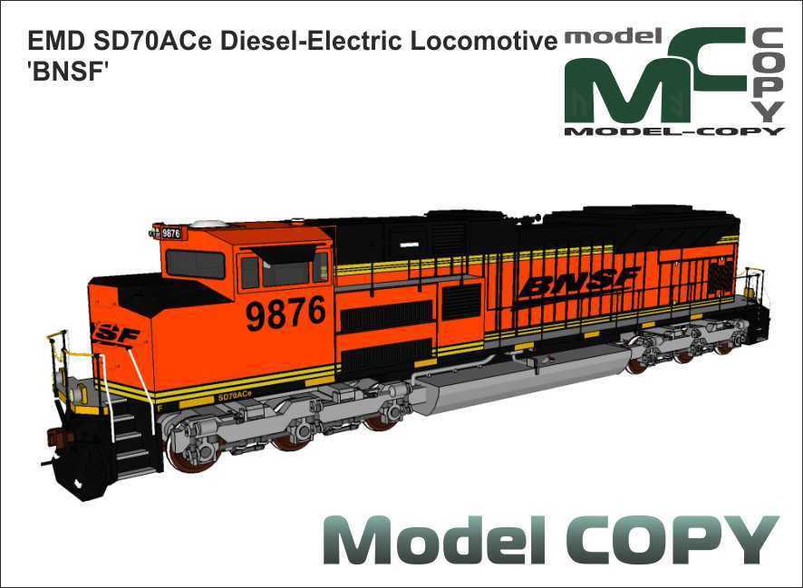 EMD SD70ACe Diesel-Electric Locomotive 'BNSF' - 3D Model