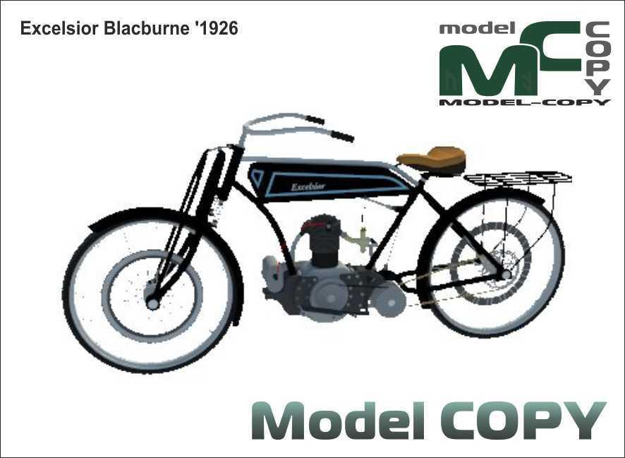Excelsior Blacburne '1926 - 3D Model